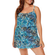 Jamaica Bay® Muted Reptile Triple-Tier Swimdress