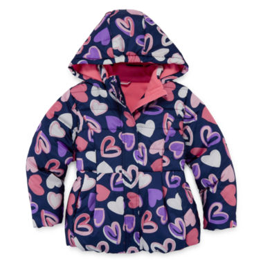 jcpenney.com | Okie Dokie Girls Midweight Puffer Jacket-Preschool