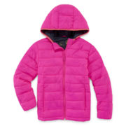 Xersion Girls Lightweight Puffer Jacket-Big Kid