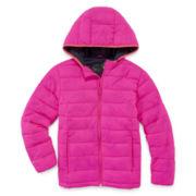 Xersion Girls Lightweight Puffer Jacket-Big Kid