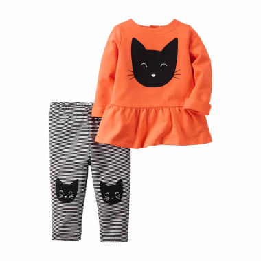 jcpenney.com | Carter's Girls Long Sleeve Pant Set-Baby