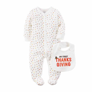 jcpenney.com | Carter's® 2-pc. Thanksgiving Sleep N Play & Bib Set - Babies newborn-24m