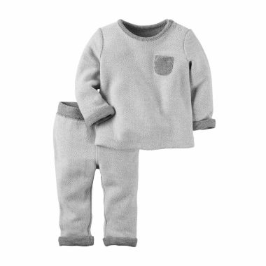 jcpenney.com | Carter's® 2-pc. Long-Sleeve Heather Top & Pants Set - Babies newborn-24m
