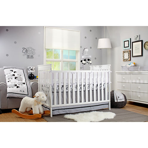 Nojo Good Night Sheep 4-pc Crib Bedding Set