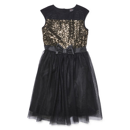 Lilt Short Sleeve Cap Sleeve Party Dress - Big Kid Girls