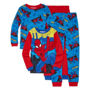 jcpenney.com | 4-pc. Marvel Spiderman Pajama Set- Boys 4-10