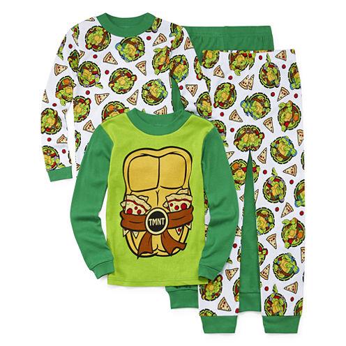 4-pc. Teenage Mutant Ninja Turtle Pajama Set- Boy 4-10