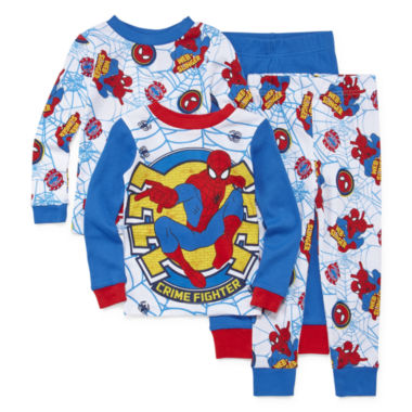 jcpenney.com | 4-pc. Marvel Spiderman Pajama Set- Toddler Boys 2t-4t