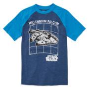 Boys Short Sleeve Star Wars T-Shirt-Big Kid