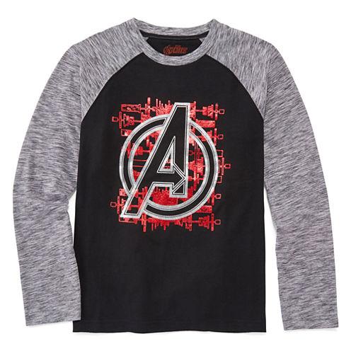 Marvel® Long-Sleeve Avengers Raglan Cotton Tee - Boys 8-20