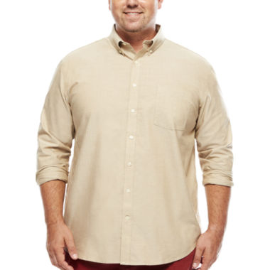 jcpenney.com | The Foundry Supply Co.™ Long-Sleeve Easy-Care Oxford Shirt - Big & Tall