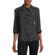 Heart & Soul® 3/4-Sleeve Bow Blouse - Juniors