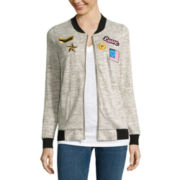 Miss Chevious Long-Sleeve Patch Bomber Jacket - Juniors
