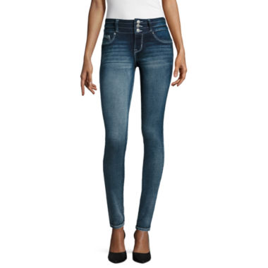 jcpenney.com | Amethyst Sparkle Three-Button Jeggings - Juniors