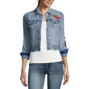 Vanilla Star® Patched Denim Jacket - Juniors