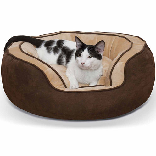 K & H Manufacturing Round N' Plush Bolster Pet Bed