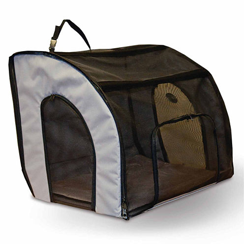 """K & H Manufacturing Travel Safety Carrier Small Gray 17"""" x 16"""" x 15"""""""