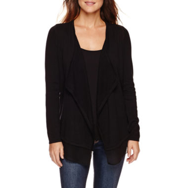 jcpenney.com | a.n.a® Long-Sleeve Cardigan - Petite