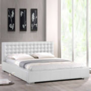 Baxton Studio Madison Modern Bed with Upholstered Headboard