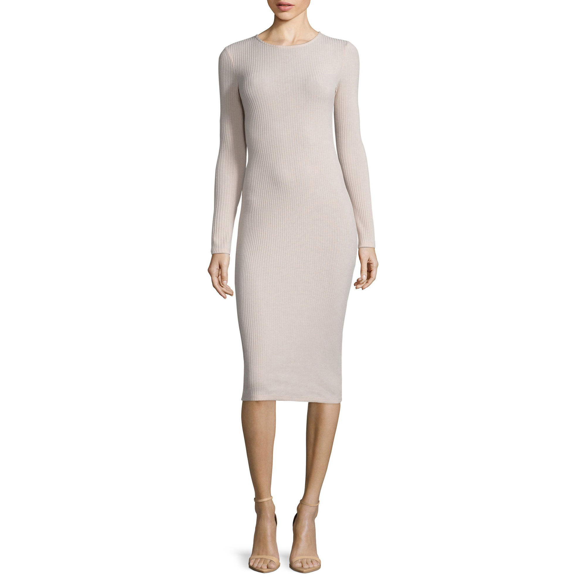 BELLE + SKY Long-Sleeve Rib Dress