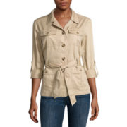 Liz Claiborne® Long Sleeve Safari Jacket