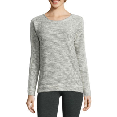 jcpenney.com | Liz Claiborne® Long-Sleeve Blocked-Texture Sweatshirt