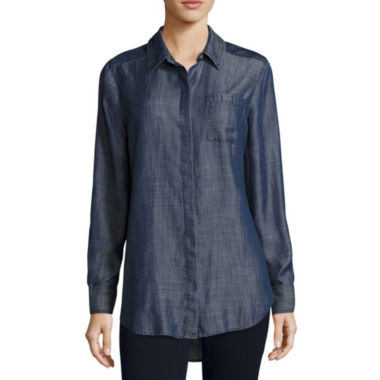 jcpenney.com | Liz Claiborne® Long Sleeve Chambray Shirt