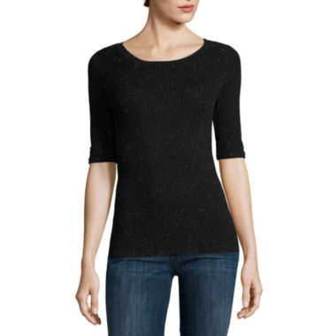 jcpenney.com | Liz Claiborne® Elbow-Sleeve Sweater