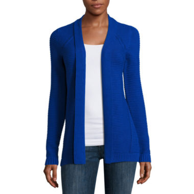 jcpenney.com | Liz Claiborne® Long-Sleeve Textured Cardigan
