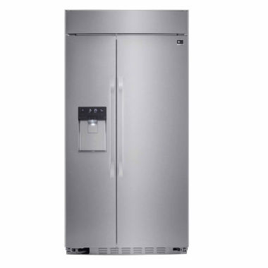 "jcpenney.com | LG ENERGY STAR® 25.6 cu. ft. Cabinet Depth 42"" Built-in Side by Side Refrigerator"