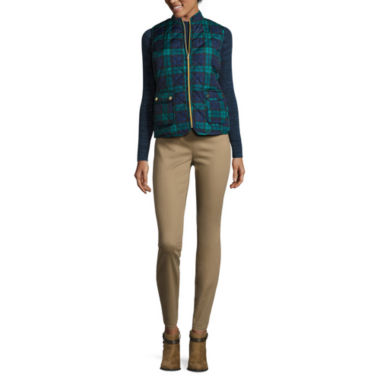 jcpenney.com | St. John's Bay® Quilted Puffer Vest, Mockneck Rib Sweater or Denim Jeggings