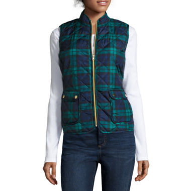jcpenney.com | St. John's Bay® Quilted Puffer Vest - Petite