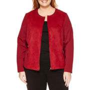Liz Claiborne® Knit Suit Jacket - Plus