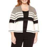Liz Claiborne® Long-Sleeve Cardigan - Plus