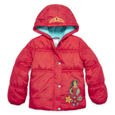 jcpenney.com | Disney Girls Elena of Avalor Midweight Puffer Jacket-Big Kid