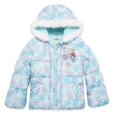 jcpenney.com | Disney Girls Frozen Midweight Puffer Jacket-Big Kid