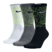 Nike® Dri-FIT Mens 3-pk. Triple Fly Crew Socks