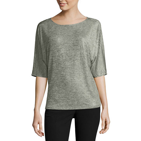 Worthington®Edition Short-Sleeve Dolman Top