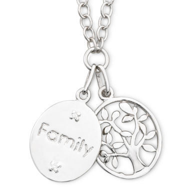 jcpenney.com | Precious Moments® Sterling Silver Family Pendant Necklace