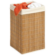 Honey-Can-Do® Square Bamboo Wicker Hamper