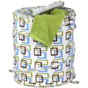 Honey-Can-Do® Large Patterned Pop-Open Hamper