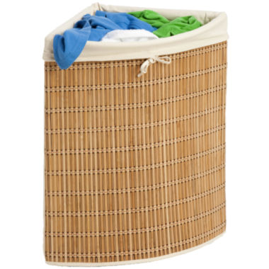 jcpenney.com | Honey-Can-Do® Bamboo Wicker Corner Hamper