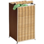 Honey-Can-Do® Tall Bamboo Wicker Hamper