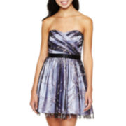 Glitter Strapless Party Dress