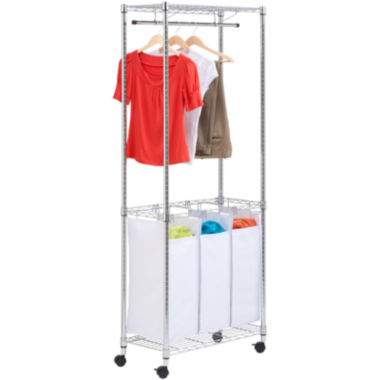 jcpenney.com | Honey-Can-Do® Chrome Rolling Urban Laundry Center