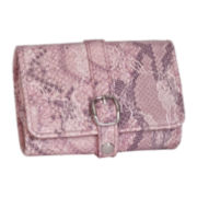Mele & Co. Pink Faux Snakeskin Travel Jewelry Wallet