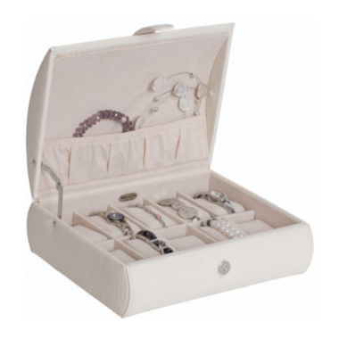 jcpenney.com | Mele & Co. Womens White Faux Leather Watch Box