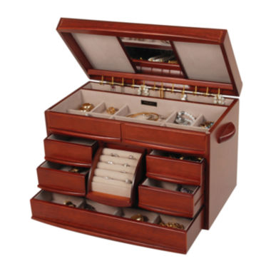 jcpenney.com | Mele & Co. Walnut Finish Jewelry Box