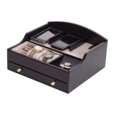 jcpenney.com | Mele & Co. Mens Java-Finish Jewelry Box & Charging Station