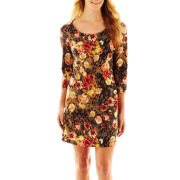Allen B.® 3/4-Sleeve Print Dress